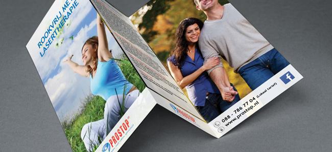 Foto van de Prostop brochure stoppen met roken lasertheapie